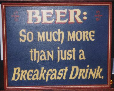 Beer: So much more than just a breakfast drink