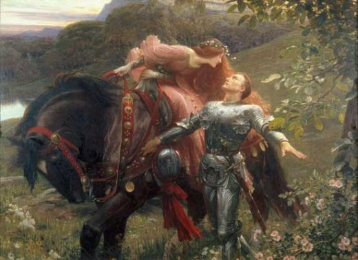 knight and woman with horse