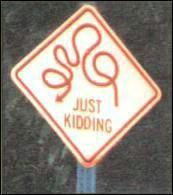 crazy street sign just kidding
