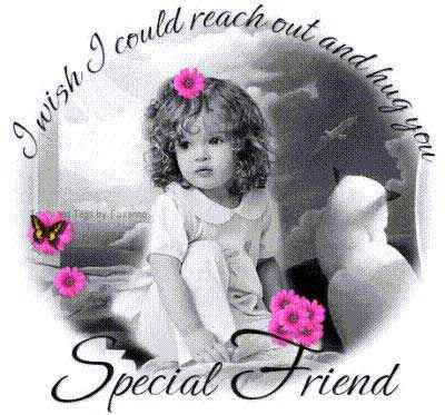 i wish i could reach out and hug you special friend little girl
