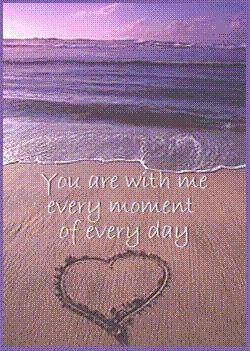 you are with me every moment of every time sand