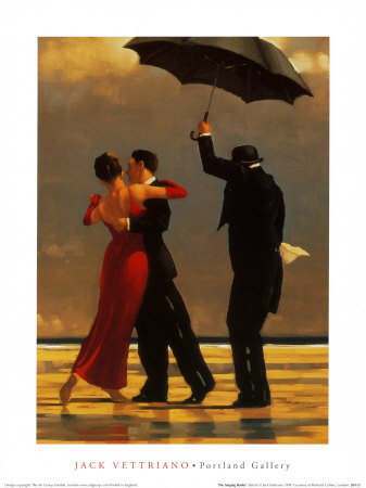 couple dancing under umbrella