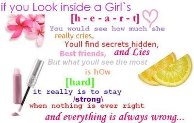 inside a girl's heart quotes