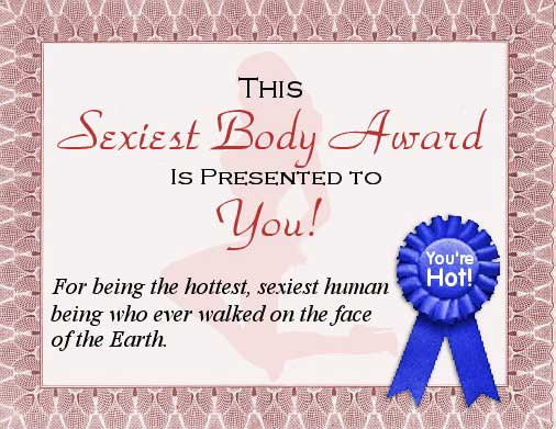 this sexiest body aware is presented to you