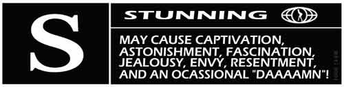 stunning may cause captivation astonishment facination jealousy envy resentment and an occasional da