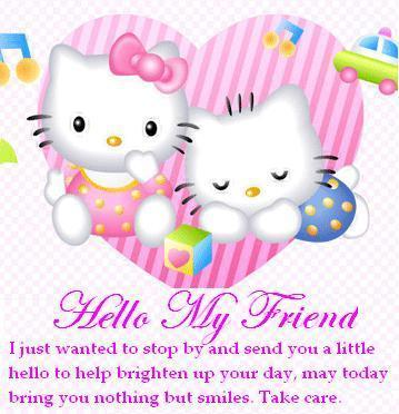 hello my friend hello kitty
