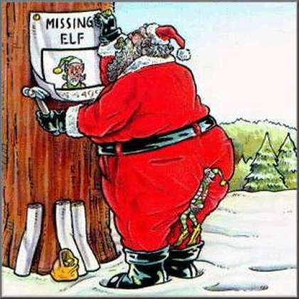santa claus missing elf