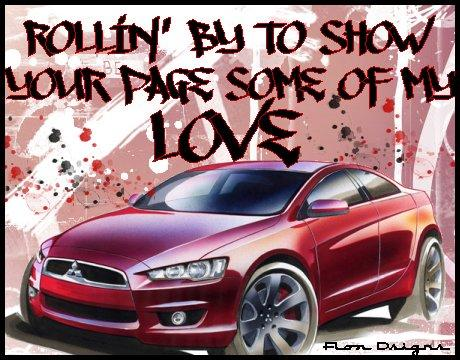 rollin by to show your page some of my love