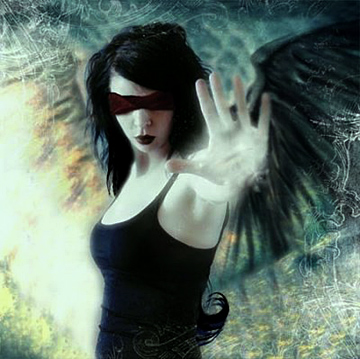 dark angel blindfolded