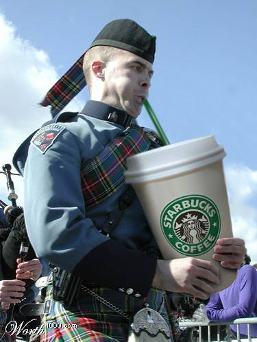 starbucks coffee bagpipes