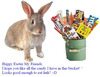 happy easter my friends candy in bucket
