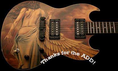 thanks for the add angel painting on guitar
