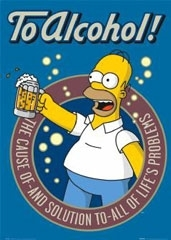 Homer simpson to alcohol