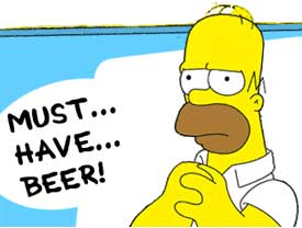 homer simpson must have beer