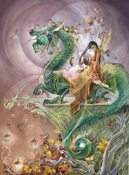 fairy on strange dragon