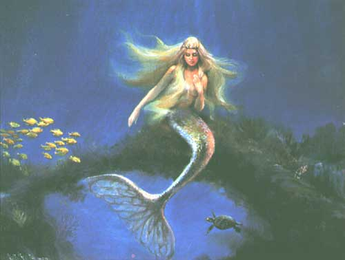 mermaid under water