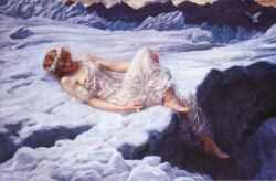 girl laying in snow