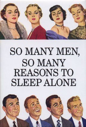 so many men so many reasons to sleep alone