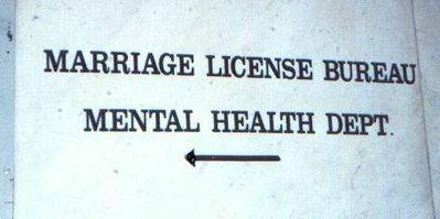 marriage license bureau mental health department