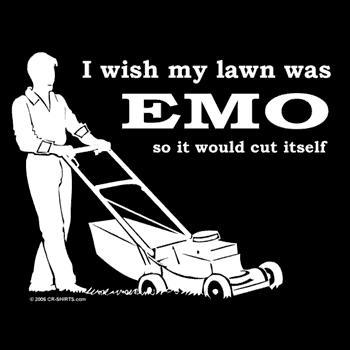 i wish my lawn was emo so it would cut itself