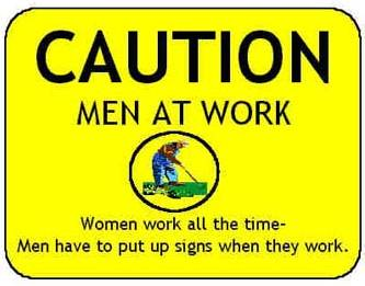 caution men at work