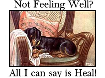 not feeling well all i can say is heal