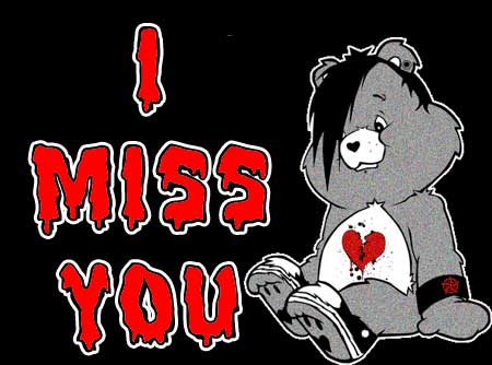 i miss you emo care bear