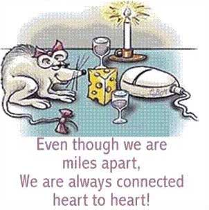 even though we are miles apart we are always connected heart to heart