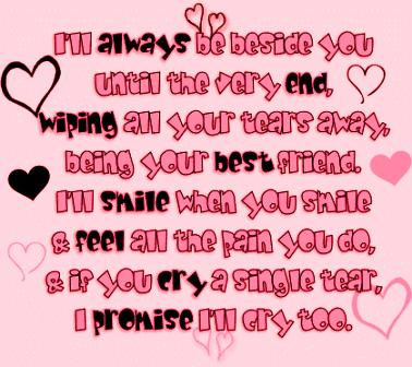 i'll always be beside you love quote
