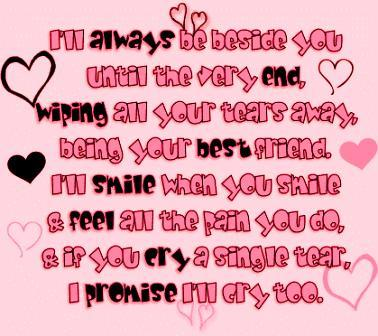 i'll always be besides you love quote