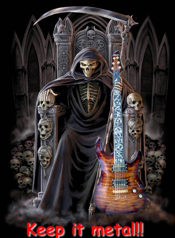 keep it metal death with a guitar