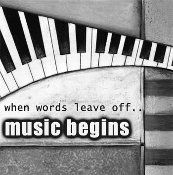 when words leave off music begins