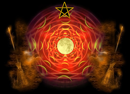 pentacle and the moon