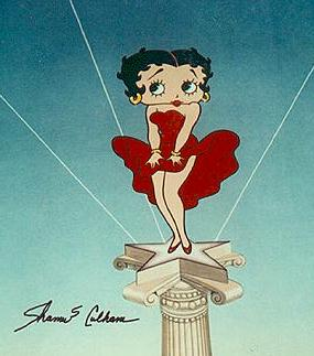 betty boop marilyn monroe pose