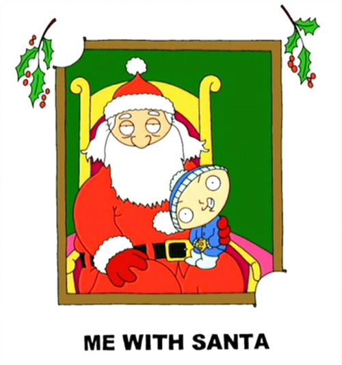 me with santa stewie family guy