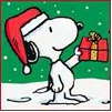 snoopy christmas icon
