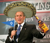 george bush sombrero