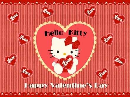 happy valentines day hello kitty