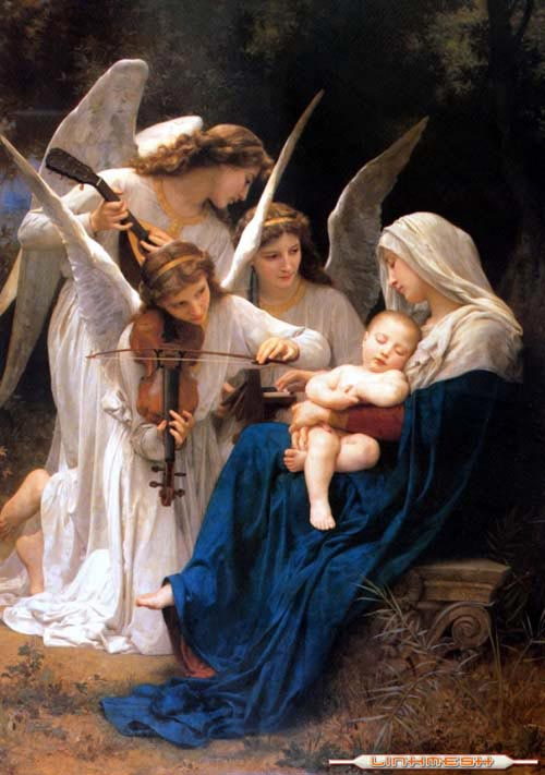 angels playing violins