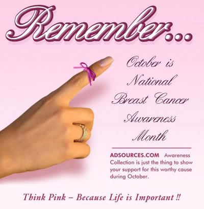 remember october is breast cancer awareness month