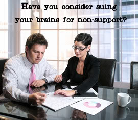 suing your brains for non support