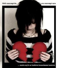 broken heart emo girl