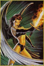 angel with fire sword
