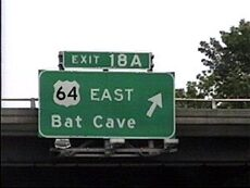 east bat cave sign