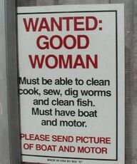 wanted good woman with a boat motor