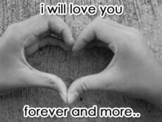 i will love you forever and more