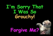 i'm sorry that i was so grouchy forgive me