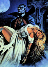 dracula with unconcious lady
