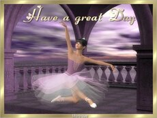 have a great day ballet dancer