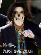 hello how are you michael jackson skull